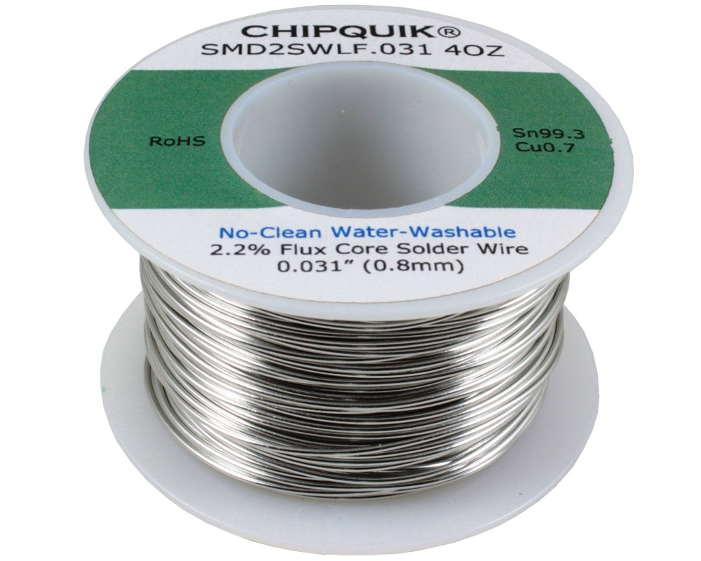 LF Solder Wire 99.3/0.7 Tin/Copper no-clean .031 4oz 0